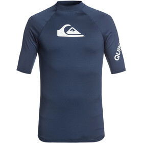 Quiksilver All Time Camiseta Manga Corta Hombre, majolica blue heather
